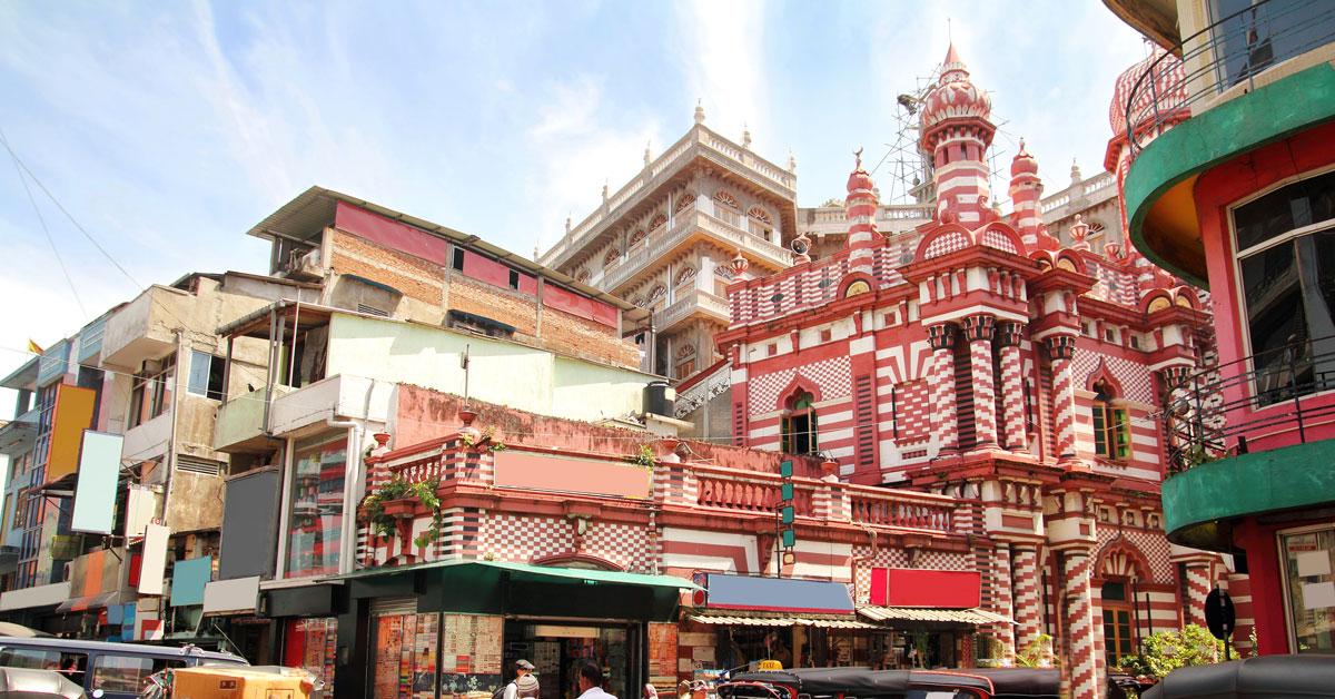 Les rues du cartier de Pettah dans la ville de Colombo, Sri-lanka